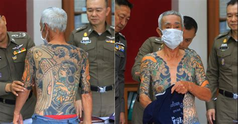 yakuza tattoo boss the hidden meanings behind the tattoos on the arrested