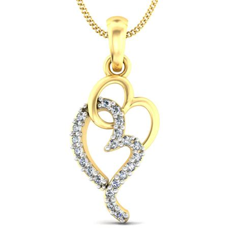 interlooping hearts gold pendant kuberbox