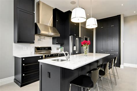black cabinet kitchen ideas 31 black kitchen ideas for the bold modern home