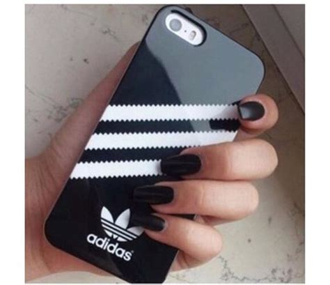 Cover Adidas Black phone cover adidas wings adidas black and white iphone
