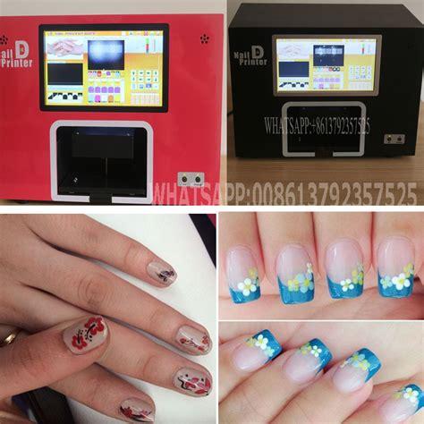 Nail Printing free shipping computer and touchable screen build inside black color digital nail printer nail