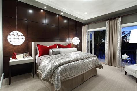 Master Bedroom Pendant Lights by Contemporary Master Bedroom With Carpet Pendant Light In