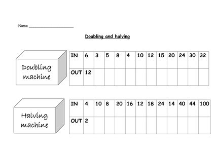 doubles and halves worksheet search math