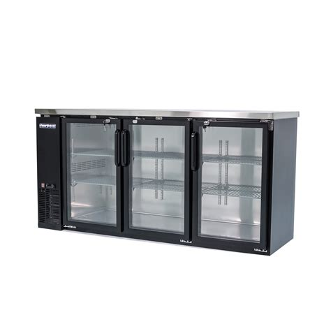 Back Bar Coolers With Glass Doors Norpole Npgb 72 72 In 3 Glass Door Back Bar Cooler Led Lights Quality Restaurant Equipment Masters