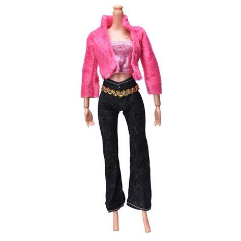 set of 3 fancy coat 3 pcs set coat pant vest for handmade doll clothing sets casual suits for doll best gift