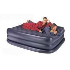 intex sized rising comfort air bed navy w electric ac better home improvement