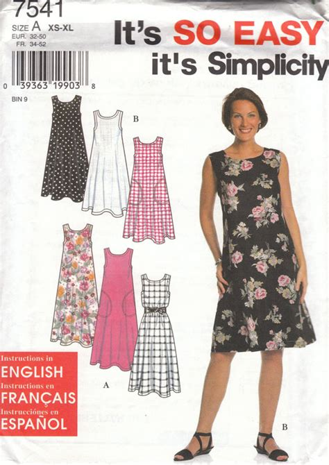 pattern simple summer dress easy summer dress pattern simplicity 7541 sizes by