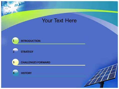 powerpoint ppt template on solar energy advantage ppt