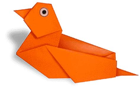 Easy Origami Duck - paper origami a duck paper origami guide
