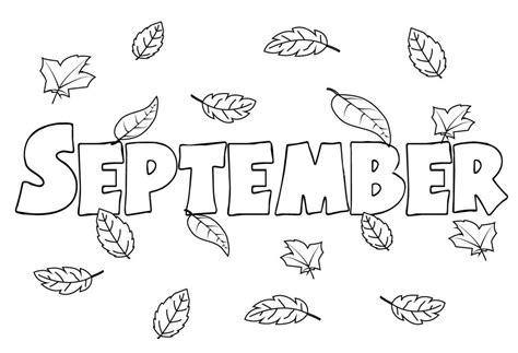 color for september september coloring pages to print preschool kindergarten