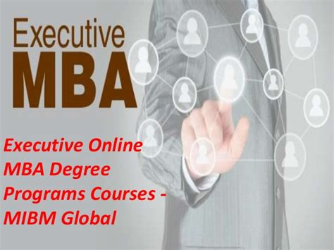 Executive Mba Degree by Executive Mba Degree Programs Courses In A
