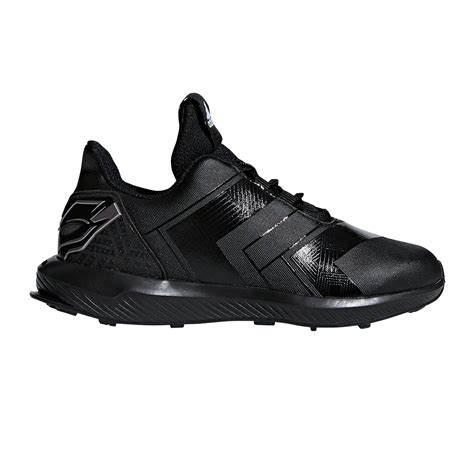 adidas rapidarun black panther boys running shoes black silver sportitude