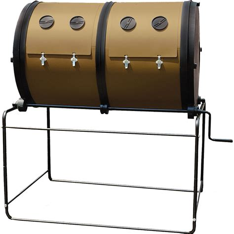 Gardeners Supply Compost Tumbler Mantis Compost Dual Chamber Composter Lawn Garden
