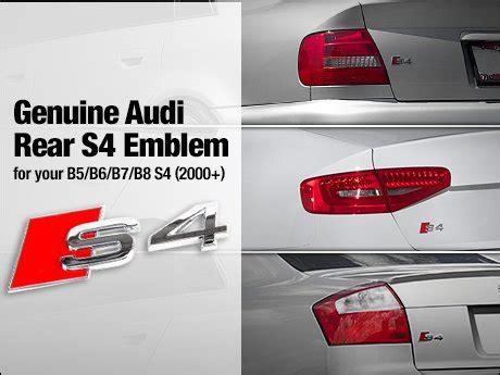 Audi S4 Emblem by Ecs News Genuine Audi Rear S4 Emblems