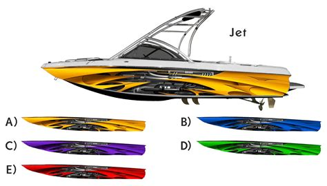vinyl wrap bottom of boat the quot jet quot boat wrap customized for your boat ebay