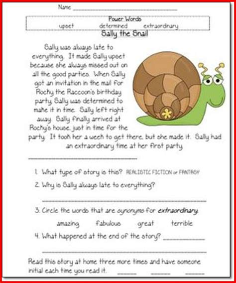 Reading Comprehension Worksheets 1st Grade by Worksheets For Grade Reading Free Grade