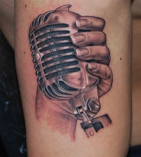 music mic tattoo designs microphone tattoos designs ideas and meaning tattoos