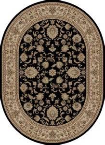 black border 5x8 oval area rug carpet