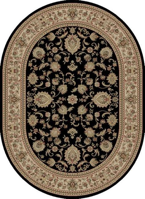 Black Oval Area Rugs by Black Border 5x8 Oval Area Rug Carpet