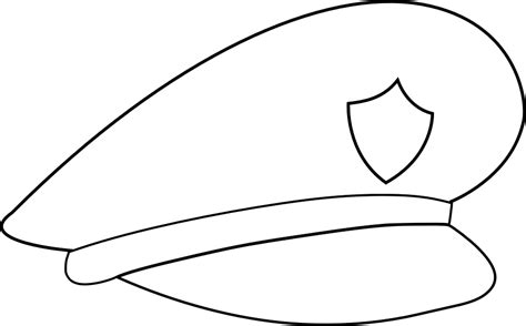 coloring page police hat policeman hat coloring page www pixshark com images