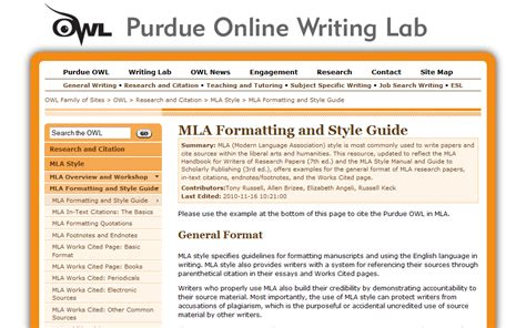Purdue Essay Exle by Mla Research Paper Exle Owl