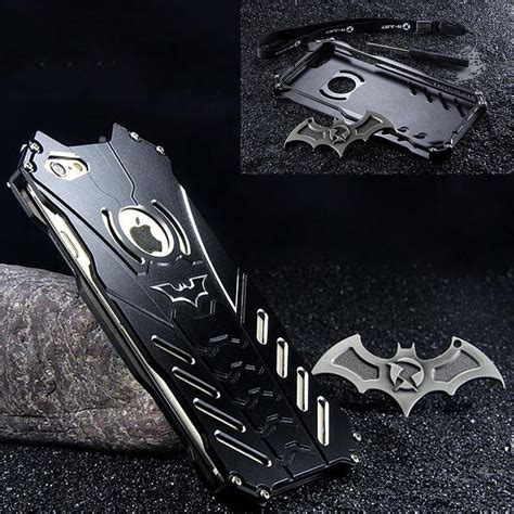 Cover Samsung Galaxy S8 Plus Ironman Hybrid With Kick Stand Aksesoris batman metal bumper shockproof cover with bat