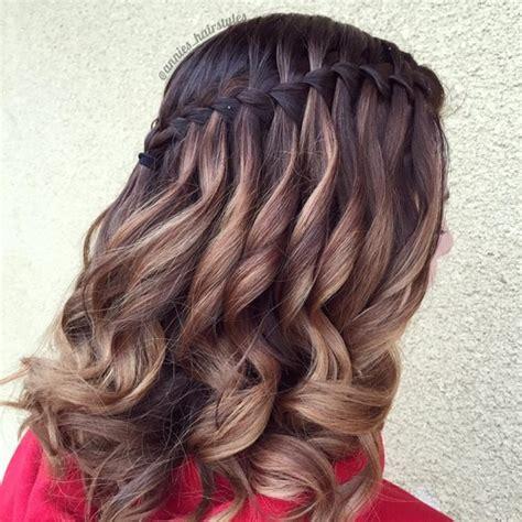 pretty cute waterfall hairstyles  girls pretty designs