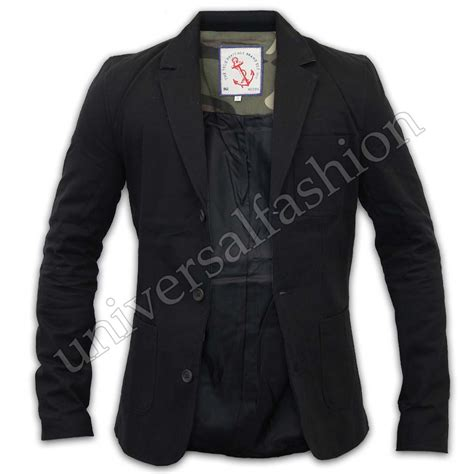Blazer Pria Casual Patches mens slim fit casual patches jacket blazer by brave soul ebay