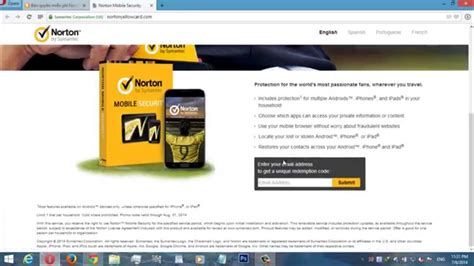norton mobile key norton mobile security free key one year for android and