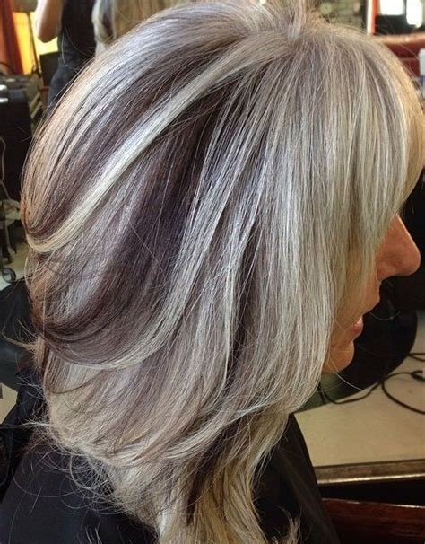 silver white hair with brown lowlights 1000 images about hair styles for gray hair on pinterest
