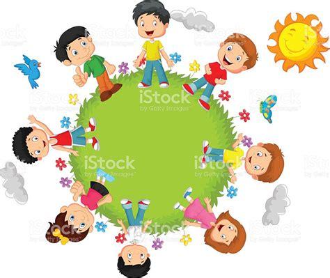 imagenes de niños alegres animados ni 241 os felices de dibujos animados illustracion libre de