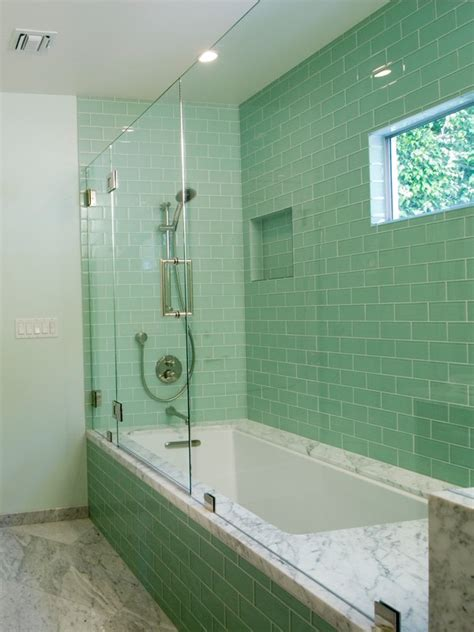 green bathroom tiles green glass subway tile in surf modwalls lush 3x6 tile