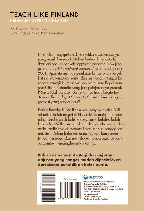 Teach Like Finland jual buku teach like finland oleh timothy d walker gramedia digital indonesia