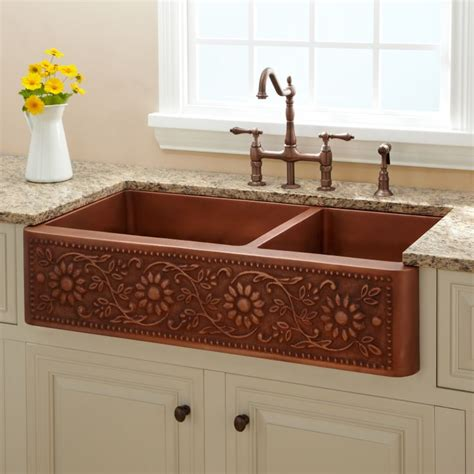 Copper Kitchen Sinks For Sale by Sale 39 Quot Sunflower 70 30 Offset Well Farmhouse