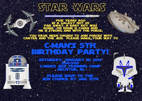 a disney mom s thoughts star wars birthday invitation