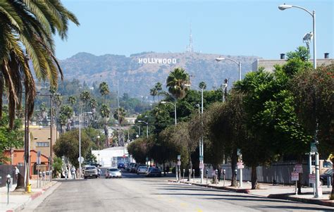 hollywood sign from street hollywood sign from sunset boulevard hollywood today is