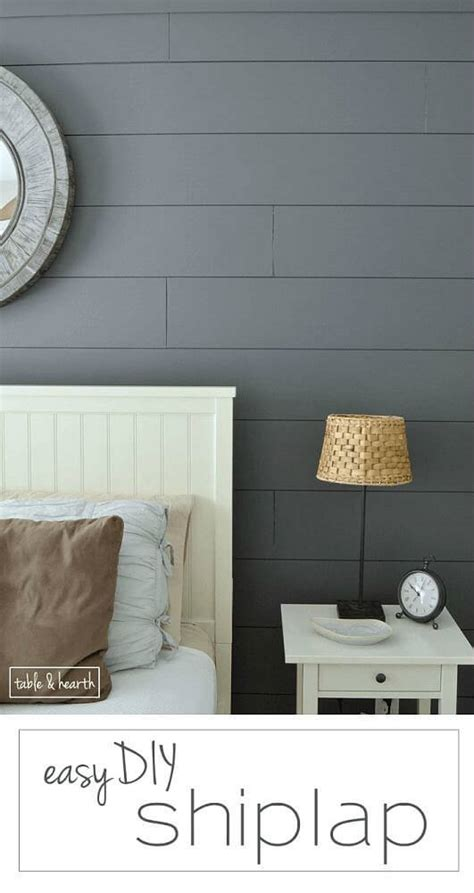 How To Create A Shiplap Wall Easy Diy Shiplap Wall Table And Hearth
