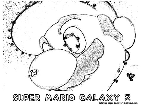 Galaxy 2 Coloring Pages transmissionpress nintendo mario galaxy 2 coloring