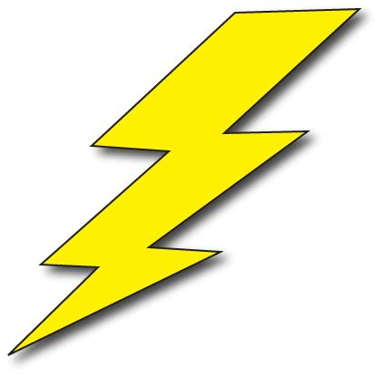 Lightning Bolt Clipart Panda Free Clipart Images Lightning Bolt Template