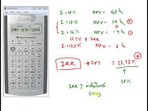 Modified Npv Definition by Ba2plus Irr And Mirr Calculation