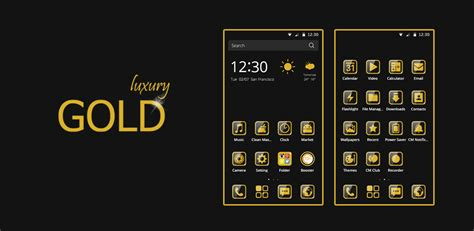 theme hotel free download for android free cm launcher luxury gold theme android themes