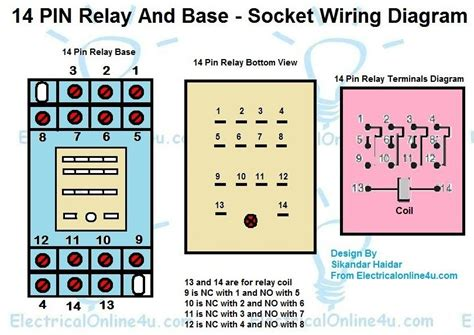 14 Pin Relay Wiring Diagram Finder Relay Wiring