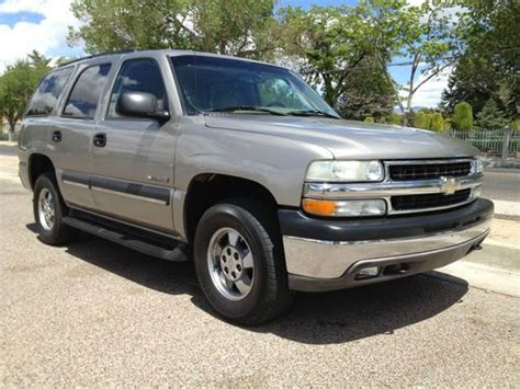 how to sell used cars 2003 chevrolet tahoe seat position control sell used 2003 chevrolet tahoe suv 4wd chevy grey leather seats in albuquerque new mexico