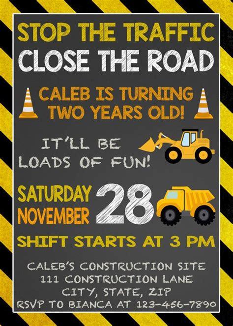construction themed birthday card template dump truck birthday invitation construction birthday