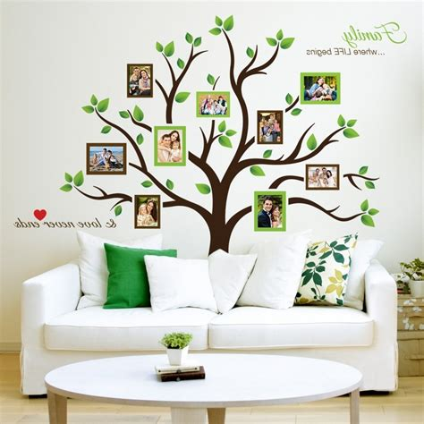 timber artbox large family tree photo frames wall decal 15 best collection of wall accents