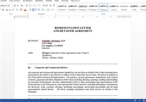 authorization letter of representation document sle letter of representation representation letter format