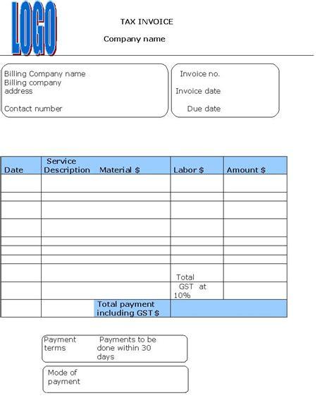 sle tax invoice invoice templates