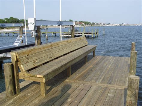 boat dock benches photos dock bench