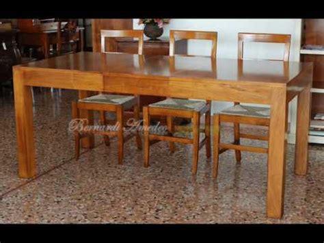 mobili bernardi amedeo tavolo allungabile in noce nazionale design moderno