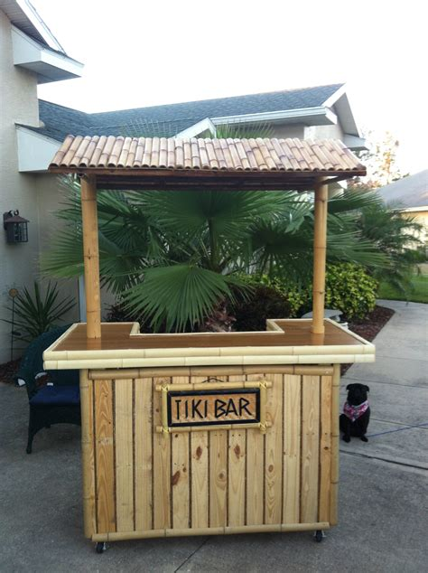 pallet tiki bar backyard tiki bar